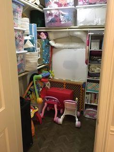 Eco Modern Concierge: Client Busy Mama: Playroom Closet Organization