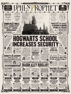 Harry Potter Scrapbook, Harry Potter Poster, Harry Potter Bedroom, Harry Potter Love, Harry Potter World, Theme Animation, Harry Potter Newspaper, Hogwarts, Imprimibles Harry Potter