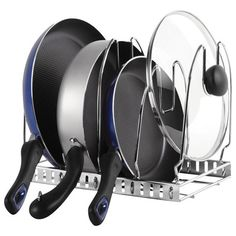 This easy-access organizer for all your cookware ($19.99).   34 Wonderful Products For People Who Hate Clutter