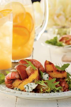 Grilled Shrimp Salad with Sweet Tea Vinaigrette - 21 New Ways to Enjoy Sweet Tea…