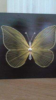 Butterfly. String Art. by Bigantic on Etsy