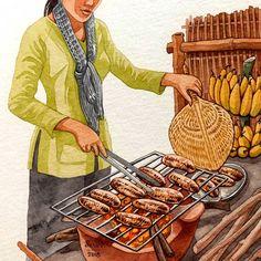 Your Food My Challenge 2019 Cơm tấm Sài Gòn Broken rice with grilled pork chop Vietnam 🇻🇳 Vietnamese Recipes, Vietnamese Food, Food Wallpaper, Bullet Journal Art, China Art, Food Journal, My Best Recipe, Food Drawing, Anime Scenery