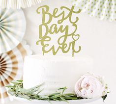 【My Mind's Eye】Fancy Cake Topper-Best Day Ever