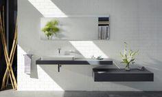 Ensemble vasque, plan de toilette et miroir Edition 400 planning de Keuco