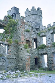 Ballyheigue Castle - Ireland -Built  in 1810, it has been burned on two occasions, first in 1840 and again in 1921