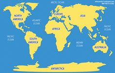 7 Continents and 5 Oceans Map with videos and info on related articles
