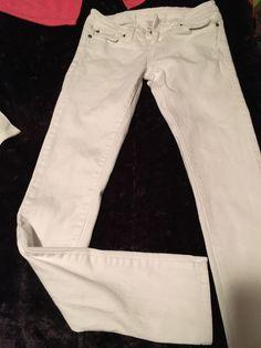White Jeans Sz 5 Long | eBay