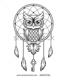 30 Best Free Printable Owl Outline Tattoos Images In 2017