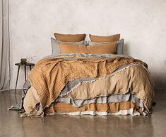 Luxurious European Linen Bedding & Linen Sheets | Hale Mercantile Co. Washed Linen Duvet Cover, Bed Linen Sets, Duvet Sets, Bedding Shop, Linen Bedding, Linen Sheets, Quilt Cover, Bedding Collections, Bed Design