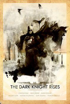 The Dark Knight Rises - Movie Poster by Mark Schilder