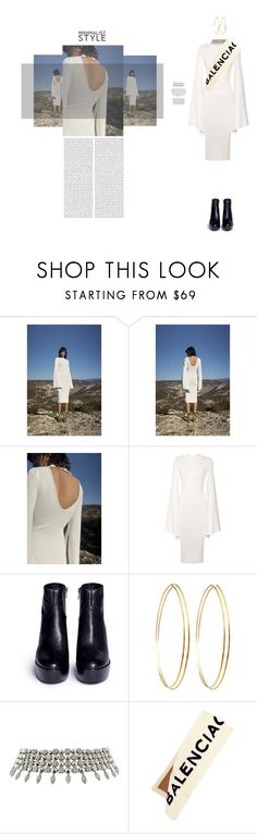 """White Dress"" by naudad ❤ liked on Polyvore featuring Ash, Jules Smith, Bulgari and Balenciaga"