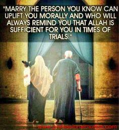 May Allah brings me someone He loves. {SI}