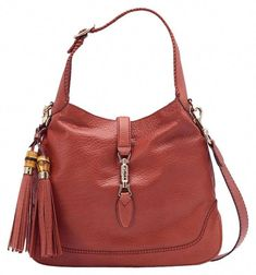 0eecc108ecd Gucci New Jackie Leather With Bamboo Tassel Large Shoulder Bag. Get one of  the hottest