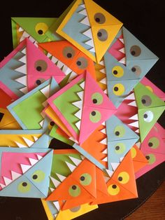 Made these monster bookmarks for my year 1 class as an end of year present. They loved them and they were so simple.