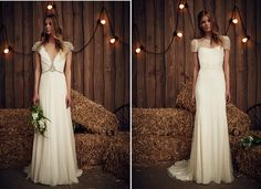 Sheba & Gemini from Jenny Packham's Spring 2017 Bridal Collection Pretty Wedding Dresses, White Wedding Gowns, Floral Wedding, Jenny Packham, Embellished Wedding Gowns, Chic Vintage Brides, 2017 Bridal, Bridal Collection, Bridesmaid Dresses