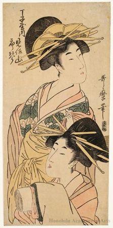 Kitagawa Utamaro, Misayama and Karakoto of Chöjiya, c. 1790