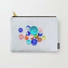 Marbles Carry-All Pouch by barbarasoftley Carry On, Things I Want, Pouch, Gifts, Stuff To Buy, Favors, Hand Luggage, Carry On Luggage