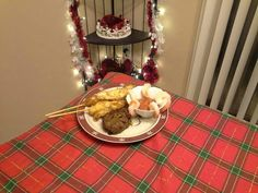 New Year's dinner with Jennifer. Deep Fried Lobster tails (6 Oz ea), Shrimp with my version of St Elmos cocktail sauce, and filet mignon. (Thanks to my boss, Andy, for the Lobster gram that made this dinner possible)