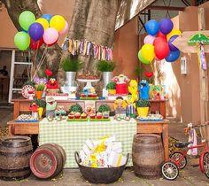 Adorei essa festa linda super divertida e colorida com tema Sesame Street! Foto @alicelinckphotography ❤️ #kikidsparty