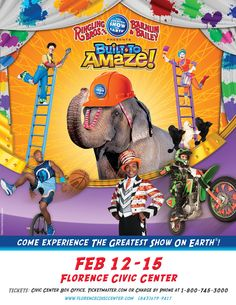 Ringling Bros. and Barnum & Bailey® Presents Built To Amaze!℠ - Gold Edition. Experience all the things you know and love and be amazed by things you have never seen before!  Coming to the Florence Civic Center in Florence, SC Feb. 12-15 2015