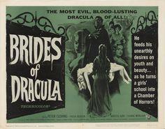 "lobbycards: "" Brides of Dracula, US title card. 1960 """