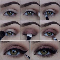Tutoriel de Maquillage : This is a nice smokey eye because she is showing you how to re create it step by...
