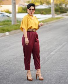 DIY COLOR-BLOCKED JUMPSUIT USING MCCALL #7728 | Mimi G Style Curvy Outfits, Classy Outfits, Chic Outfits, Plus Size Outfits, Trendy Outfits, Fashion Outfits, Big Girl Fashion, Curvy Fashion, Plus Size Fashion