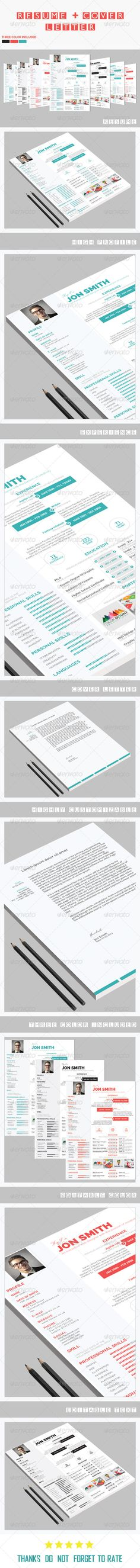 I love this clean, crisp resume design in two different styles of - different styles of resumes