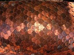 fish scale pattern (pennies are cool but not practical!)