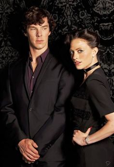 Sherlock Holmes (Benedict Cumberbatch) and Irene Adler (Lara Pulver) #BBC