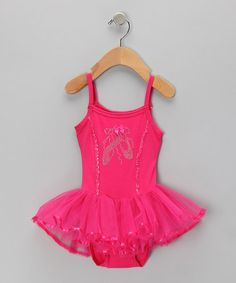 Take a look at this Hot Pink Rhinestone Ballet Skirted Leotard - Infant, Toddler & Girls by Charla's Place on #zulily today!