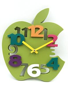 Hippih Mute 3D Apple Shaped Wall Clock with Plastic Material for Home decor(Green) Hippih http://www.amazon.com/dp/B018JZ3MHA/ref=cm_sw_r_pi_dp_wj5Xwb0WJA0J0