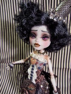 The Clock-Work Princess Doll-MH doll repaint and hand made outfit by Wicked Paper Dolls OOAK. $ 215.00, via Etsy.