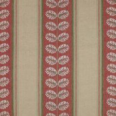 Woodcote Stripe Fabric - Colefax Design Library