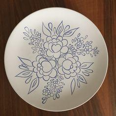 #çini #çinitabak #handmade #ceramic #ceramicplate #plate #seramik #çiçek #desen #motif