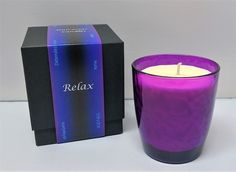 Relax Aromatherapy Pure Soy Candle. Relax is a blend of pure Soy, Sweet Orange, Tangerine Lemon, Bergamot (Bergaptene-free), Lavender, Roman Chamomile, Ylang Ylang, and Sandalwood pure Essential Oils.