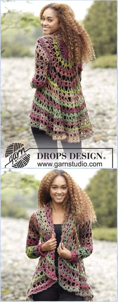 Crochet Circle Jacket, Crochet Circular Vest + Sweater Jacket +Top+Coat Free Patterns: Crochet Bohemian Style Sweater Coat and Vest for ladies and girls. Gilet Crochet, Crochet Vest Pattern, Crochet Purse Patterns, Crochet Jacket, Free Pattern, Flower Patterns, Crochet Stitches, Crochet Fall, Crochet For Boys