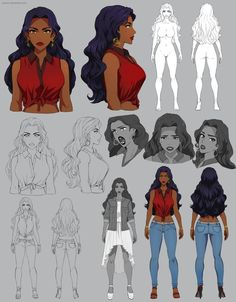 Drawing Tips Aiofe - character sheet - commission by Precia-T - Female Character Concept, Character Model Sheet, Character Design Girl, Character Sketches, Character Design Animation, Character Modeling, Character Art, Character Poses, Black Anime Characters