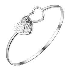 Encontrar Más Brazaletes Información acerca de Plateado brazaletes de plata en…