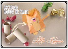 Paquetes divertidos con rollos de papel para sorprender