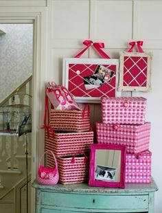 Pretty storage for girls rooms.