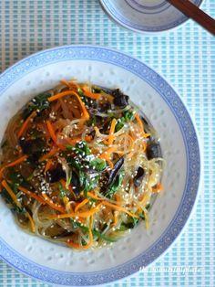 Korean glass noodles jap chae