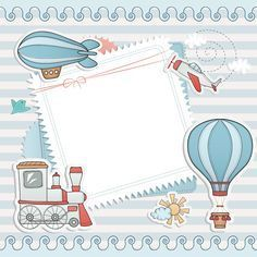 Blank paper with baby card vector 01