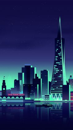 San Francisco Minimalist City Mobile Wallpaper (iPhone, Android, Samsung, Pixel, Xiaomi) - Best of Wallpapers for Andriod and ios Wallpaper City, Screen Wallpaper, Mobile Wallpaper, Wallpaper Backgrounds, Wallpaper Space, Iphone Wallpapers, Vaporwave Wallpaper, City Illustration, Digital Illustration