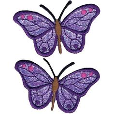 "Wrights Iron-On Appliques: Iridescent Butterflies 2-7/8x1-1/4"" 2/P Wright's http://www.amazon.com/dp/B00279GA8I/ref=cm_sw_r_pi_dp_iC94tb115F8D0"