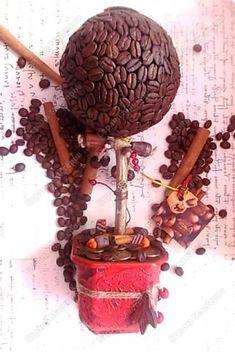 Кофейный топиарий - подробный мастер-класс (много фото)
