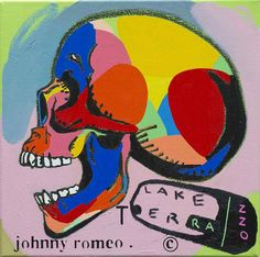 Johnny Romeo. See more at www.convergegallery.com/portfolio/johnny-romeo/ TITLE - Lake Terrazzo  MEDIUM -  Oil and Acrylic on Canvas SIZE - 40cm x 40cm
