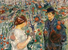 Beneath the Red Apples 1913-15. Edward Munch (1863-1944)