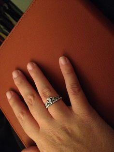 Pandora princess ring. Stackable possibilities. Love it :)