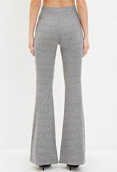 Ribbed Knit Flared Pants